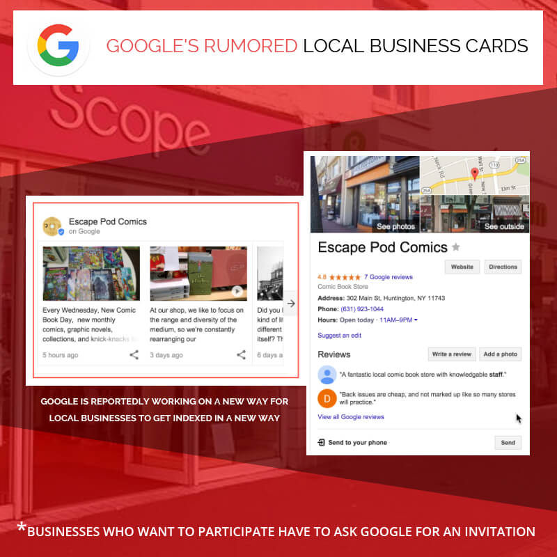 Google's Rumored Local Business Cards