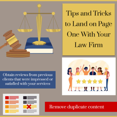 GMB Profiles: Tips and Tricks to Land on Page One With Your Law Firm